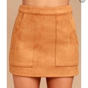 0a8cb6ef85 Honey Punch Skirts | Super Cute Suede Skirt With Pockets | Poshmark